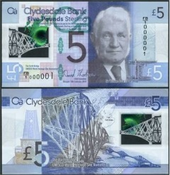 Clydesdale bank polymer £5